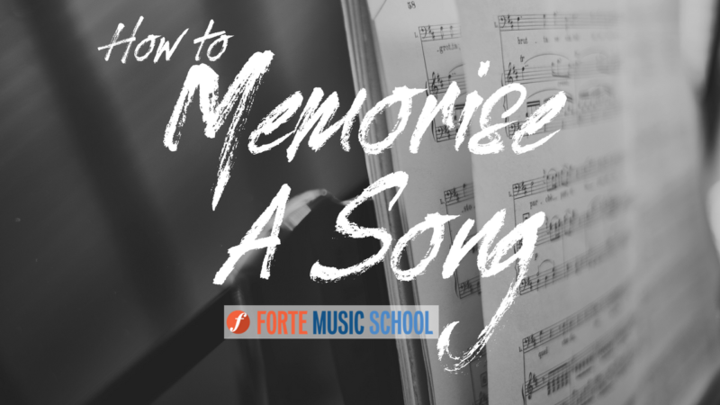 How To Memorise A Song