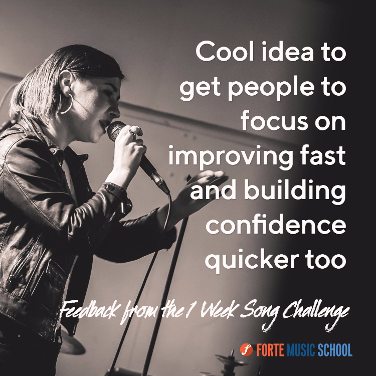 focus on improving fast testimonial 1 week song challenge course