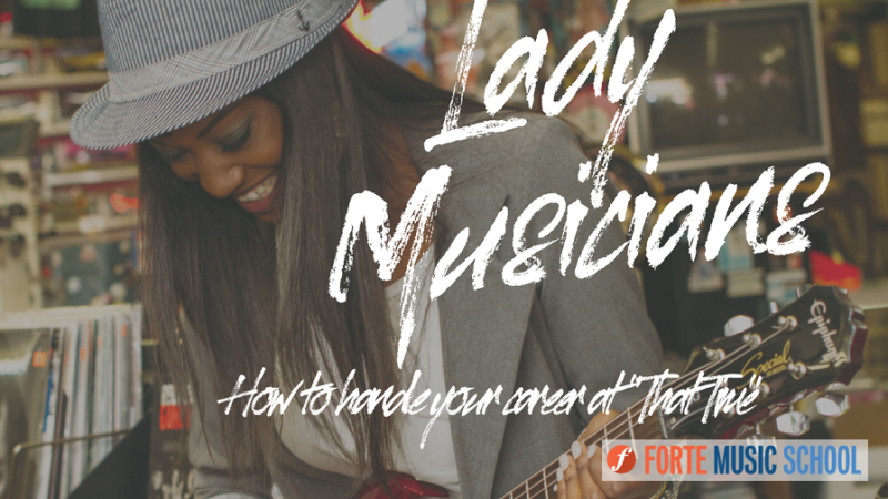 """Lady Musicians: How To Manage Your Music Career During """"that Time"""""""